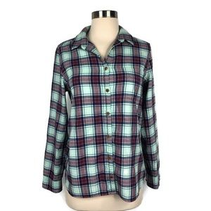 J.crew Plaid Long Sleeve Button Down Shirt Size 6
